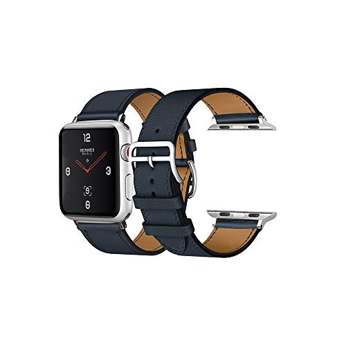 CAILIN Strap per Apple Watch, Serie Luxury Apple Watch Leather Band Vacchetta Cinturino con Fibbia di Banda di Ricambio per Apple Watch Series 4 Sport & Edition, Hermes, Nike