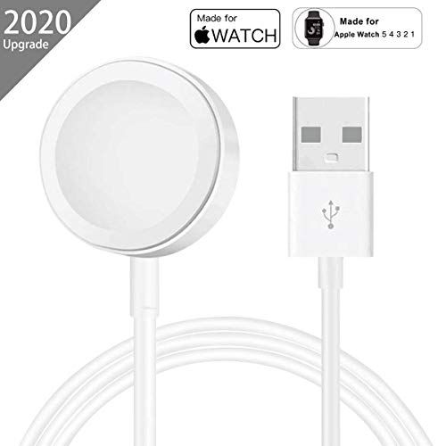 AICase Charger para Apple Watch,Cargador Magnética para iWatch Cargador Magnética para el Apple Watch Series 5/4/3/2/1,38mm,40mm,42mm,44mm(1M) (1M)