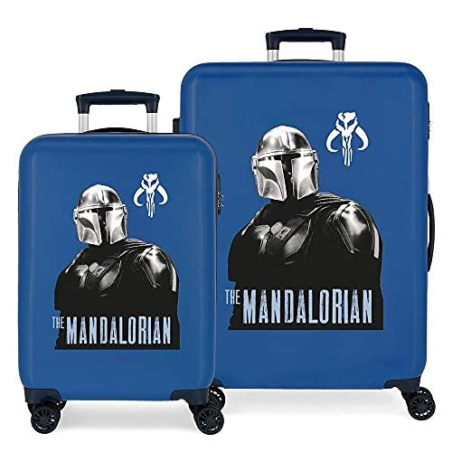Star Wars The Mandalorian Juego de maletas Azul 55/68 cms Rígida ABS Cierre de combinación lateral...
