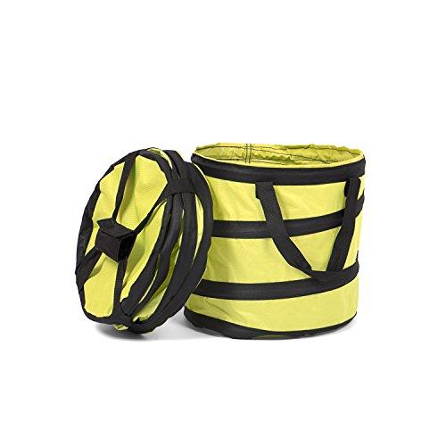 Fundwerk Pop-up Garten-Abfallsack 15L im 2er Set | Die Gartenabfallsäcke sind bestens geeignet als Laubsack und für Grünschnitt |hellgrün