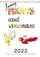 funny FRUITS and VEGETABLES - lustiges Obst und Gemuese (Tischkalender 2022 DIN A5 hoch): Obst und Gemuese zeigen sich von ihrer lustigen Seite. (Monatskalender, 14 Seiten )