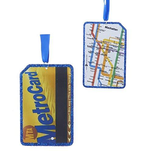 Kurt Adler 3.5' MTA METRO CARD ORNAMENT