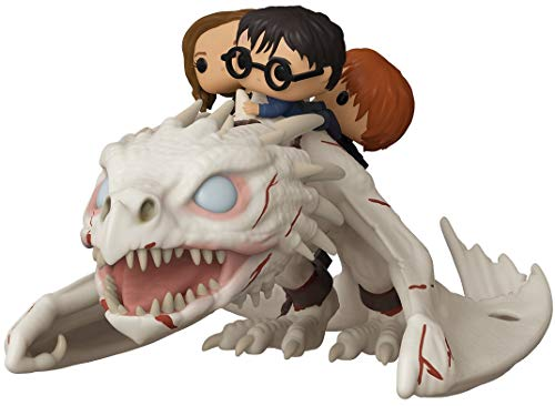 Funko- Pop Ride: Dragon w/Harry, Ron, & Hermione Potter Figurine de Collection, 50815, Multicoleur