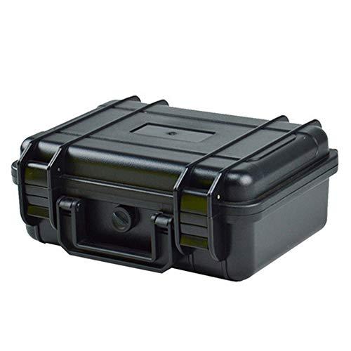 ZYCX123 Außen Kunststoff Stoß- Wasserdichte Box Airtight Überleben Aufbewahrungskoffer Container Carry Box (Schwarz)
