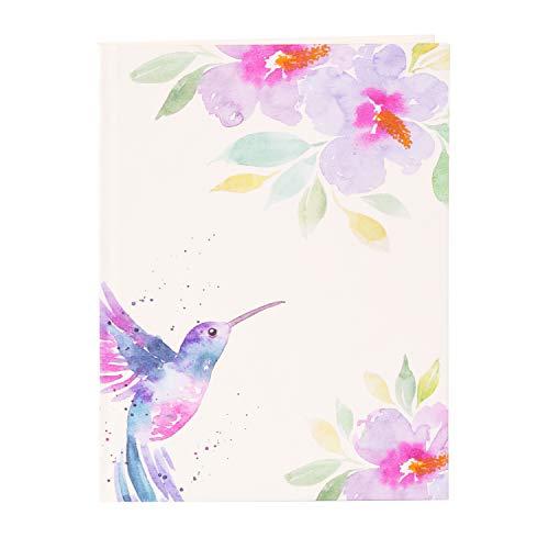 goldbuch Bullet Journal 64538 - Cuaderno DIN A5 con diseño de colibrí (200 páginas de color crema, con puntos, encuadernación con estructura de lino y marcapáginas)