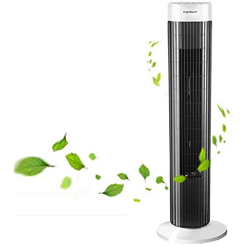 Aigostar Ventilatore a torre a 3 velocità con timer silenzioso impostato fino a 45 W (85 ° oscillazione)