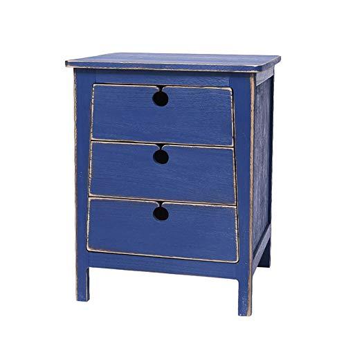 Nachtkastje/salontafel van hout met lade op 3 niveaus | salontafel bijzettafel slaapkamermeubels | holle greep | accessoires voor rustige geleiders en gladde afwerking L45xW40xH60CM E