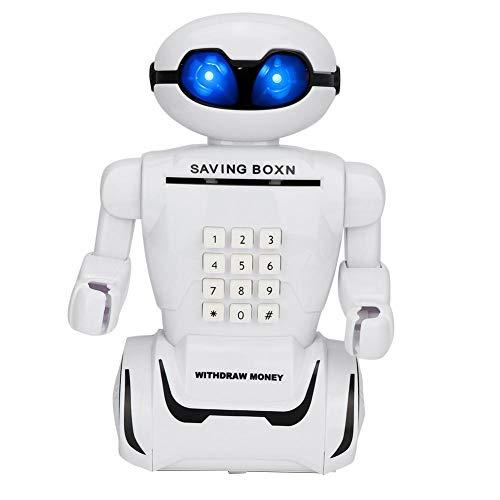 Wifehelper Spardose mit Roboter Imitation, Nachtlicht, Geldsparendes Spielzeug für Kinder