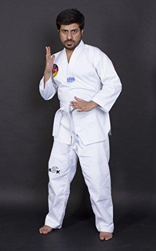 Hawk Sports Standard Uniforme Taekwondo, Color Blanco, 100