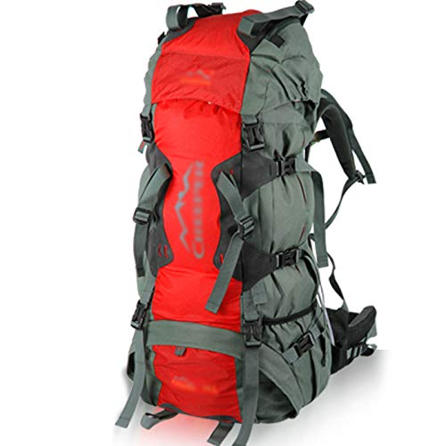 ASDAHSFGMN Sac à Dos d'alpinisme Professionnel en Plein air Voyage Paquet d'épaule de 70 litres de Grande capacité pour Envoyer Une Housse de Pluie