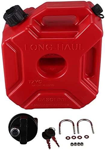 Tanques de Combustible 5L con Cerradura, latas de Gasolina de plástico con Bloqueo Motor de Coche Motocicleta Jerrycan Gas Can Gasoline Aceite Contenedor Recipiente de Combustible (Size : 5L)