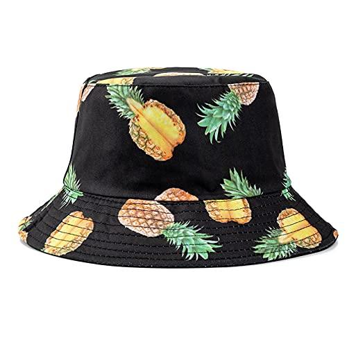 jujubai Sombrero Unisex Sombreros De Cubo Verano De Doble Cara con Estampado De Frutas Gorra De Mujer Sombrero De Sol Al Aire Libre Hombres Clásico Sombrero De Cubo De Panamá