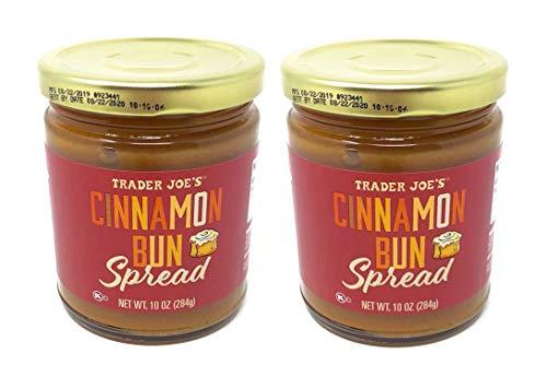Trader Joes Cinnamon Bun Spread - Pack of 2 Jars - 10 oz Per Jar - Seasonal Item
