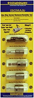 Eazypower 88239 Get It Out One Way/Rounded Screw Remover Set, 6, 8, 10, 12, 14