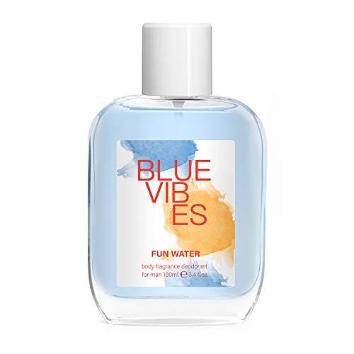 Fun Water Blue Vibes - Desodorante para hombre (100 ml, pack de 2)