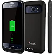 Alpatronix Galaxy S6 Battery Case, BX410 3500mAh Thin External Protective Backup Battery Pack Rechargeable Portable Charger Case for Samsung Galaxy S6 Juice Bank Power Pack Phone Charging - Black
