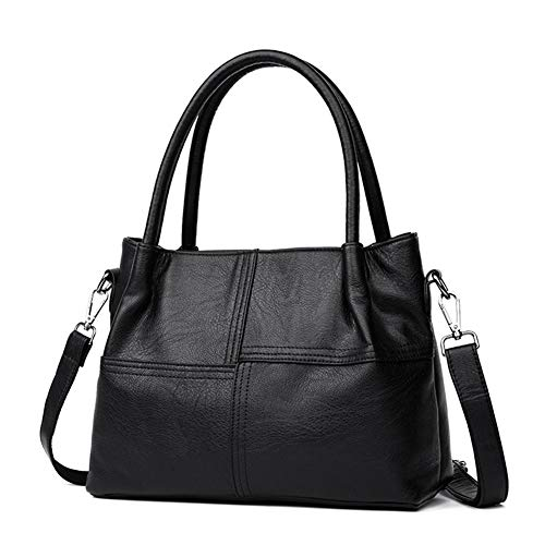 N / A Multi-Functional Middle-Aged Lady Shoulder Bag, Pu Leather Material, Large Capacity Multiple Compartments Fine Craftsmanship Clear Lines Firm Stitching
