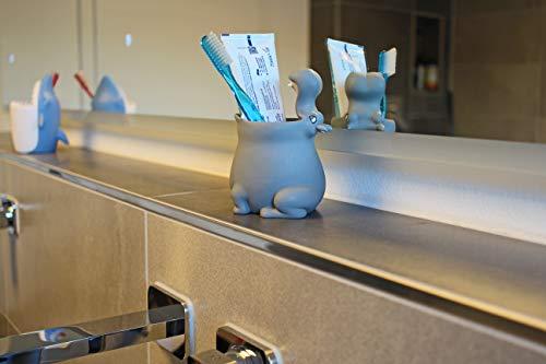 Winkee Zahnputzbecher Hippo | Lustiger Zahnbürstenhalter für Kinder & Babys | Animal Toothbrush Cup/Mug for Kids | 10 x 10 x 13,5 cm