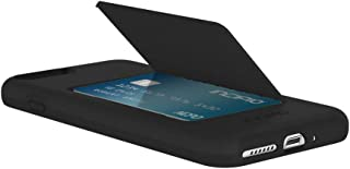Incipio IPH-1503-BLK iPhone 7 Plus / 8 Plus Stowaway Advanced Credit Card Hard Shell Case with Silicone Core - Black/Black