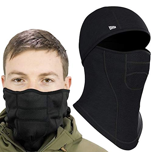 Balaclava Face Mask Ultimate Protection from Dust, Aerosols, Elements & UV Rays Black