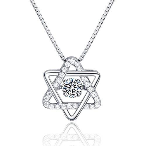 Oorstekers ster kristallen dames halsketting pentagrammen sterren 925 sterling zilver hanger ketting
