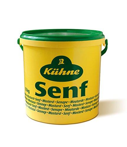 Kühne Senf würzig-pikant, 10 kg Eimer, 1er Pack (1 x 10 kg)