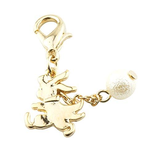 チャームパーツ モチーフ ゴールドカラー p-charm-004-12.ミニウサギ/アクセサリー マスクチャーム オリジナル デコパーツ ハンドメイド