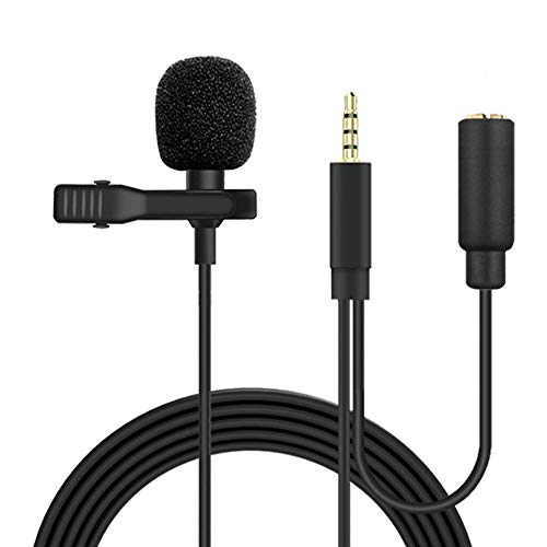 MeloAudio Professionele Lavalier Revers Clip-on Interview Podcast Noise Cancelling Microfoon met Omnidirectionele Mic en…