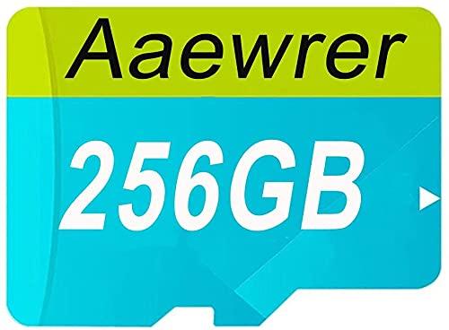 256GB/512GB/1024GB Micro SD Card Class 10 Memory Card High Speed Micro SD SDXC Card with SD Adapter (256GB-GE)