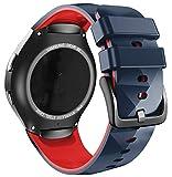 ANBEST Pulsera de Silicona Compatible con Correa Sport Gear S2 para Samsung Gear S2 SM-R720/SM-R730 Smart Watch (no para Gear S2 SM-R732), Grande, Piedra/Rojo