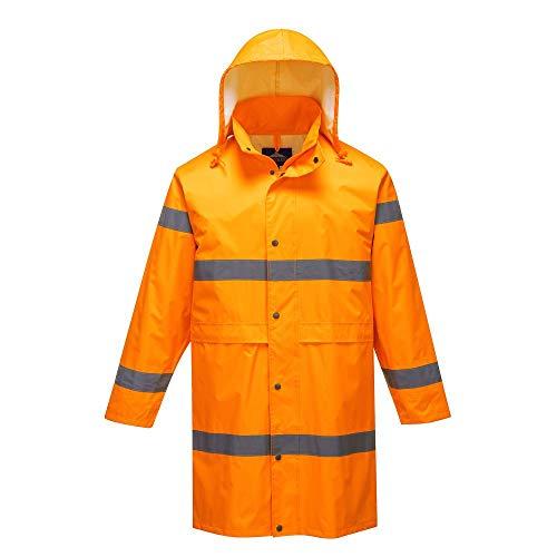 Warnschutz Regen Mantel Orange Large
