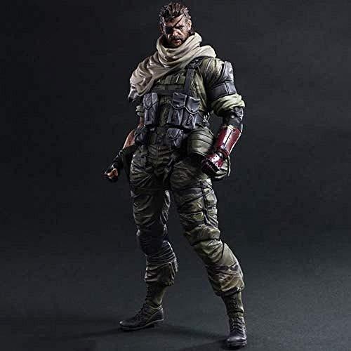 WXxiaowu Metal Gear Solid V Acción Juego de Disparos Modelo Venom Snake Big Boss Diamond Dog Guide Cuerpo Completo Junta móvil Mesa estática Toppiece Material de PVC 26cm Piezas de Repuesto múltiples
