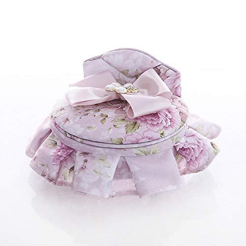 Caja De Almacenamiento Rosada del Joyero De Los Muebles De La Tela del Diamante De La Mariposa Mini-Cama Redonda