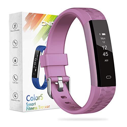 ONIOU Kids Fitness Tracker, wasserdichte Aktivitäts-Tracker-Uhr für Kinder, Schrittzähleruhr Kalorien-Schrittzähler für Jungen, Mädchen, exklusiv für Kinder, Pink