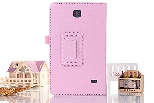 Tab 4 8.0 T330 T331 - Funda de piel sintética para Samsung Galaxy Tab 4 8.0 pulgadas SM-T330 SM-T331 T335 Tablet Stand Accesorios de protección-rosa
