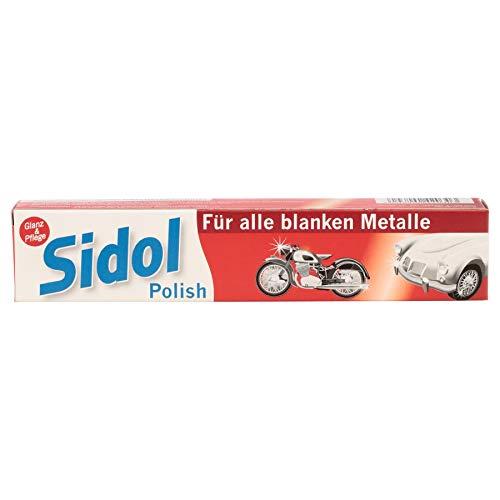SIDOL Polish Für alle blanken Metalle - Metallreinigung mit Oberflächenschutz für Edelstahl, Chrom, Messing, Aluminium, Bronze, Gold und Silber