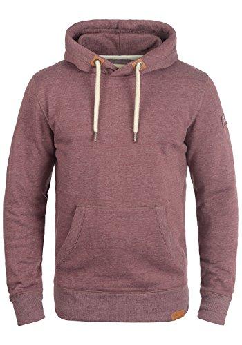 !Solid TripHood Herren Kapuzenpullover Hoodie Pullover Mit Kapuze Und Fleece-Innenseite, Größe:M, Farbe:Wine Red Melange (8985)