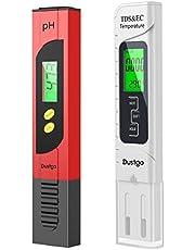 Dustgo 2-en-1 Testeur pH Mètre électronique&TDS Mètre Testeur de qualité de l'Eau TDS pH EC Température, Testeur numérique avec Écran LCD Test pour Piscine, Aquarium