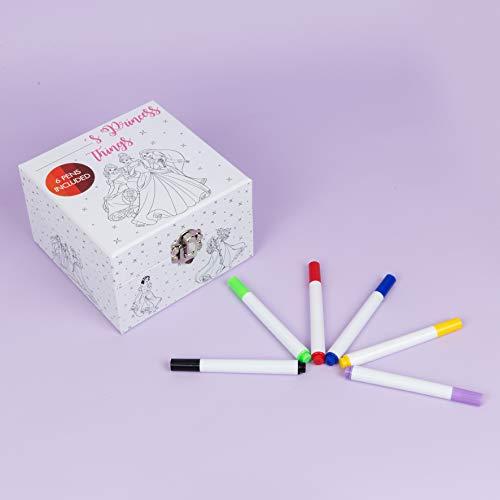 Disney Schmuckdose zum Bemalen - Colour Me - personalisiertes Schmuckkästchen incl. Buntstifte