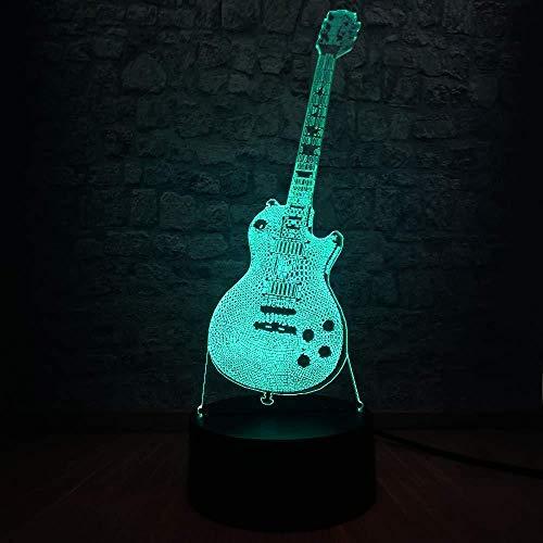 7 Farbe Feuerzeuge Geburtstagsgeschenk 3D Nachtlicht Musik Stil Gitarren Bass 3D Lampe Nighthome Dekor Geschenke Für Kinder Kinder Geburtstag Weihnachtsgeschenk