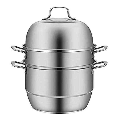 VONOTO Steamer for cooking,Steamer basket,Steamer pot,Food steamer,Steamer cookware,9Qt Stainless steel,L Size