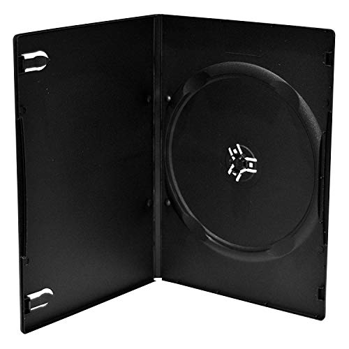MediaRange CD/DVD Storage Media Hülle 10pcs, Plastic, Black, BOX33 (10pcs, Plastic, Black)