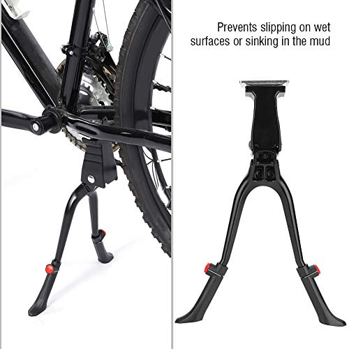 Lahomie Fietsfiets met dubbele poten, in hoogte verstelbaar, kickstand voor fiets met dubbele poten, voor 24-28 inch