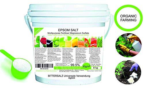 Abono Ecológico Sales de Epsom (sulfato de Magnesio) FERTILIZANTE DE MAGNESIO HUERTA...