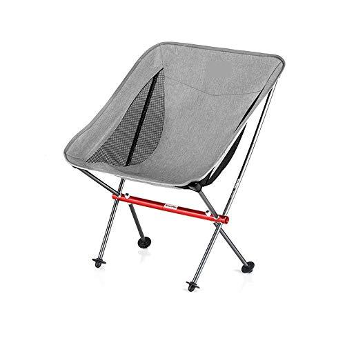 ZA Outdoor klapstoel, achterstoel, draagbaar, aluminiumlegering, ultralichte stoel, visstoel, bureaustoel Moon, fauteuil, waterdicht, scheurbestendig weefsel, duurzaam