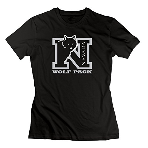 Moniz Mujer Blanco Gris Athletic Logo Nevada Wolf Pack camiseta