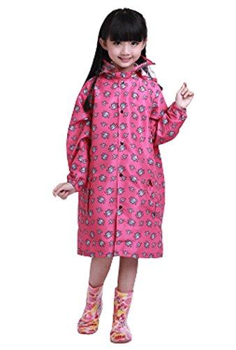 coréen étoiles Lovely bébé imperméable Mode enfants pluie Rose vif S