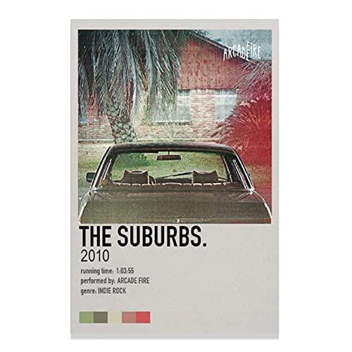 The Suburbs.2010 Arcade Fire - Póster de pared para decoración de sala de estar, dormitorio, estilo unframe-30 x 45 cm