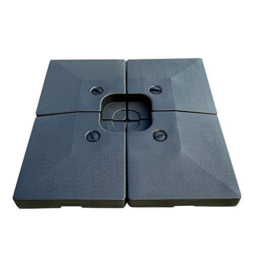 Base de paraguas resistente para el mercado de patio, base ajustable, para exteriores, patio, playa, jardín, color negro