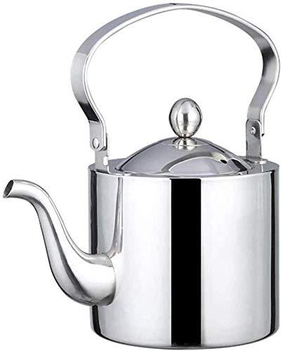 ZHANGYY Edelstahl Tee mit Infuser Filter und geeignet für chinesische Restaurants, Wohnzimmer im Freien Cocktail Party Tee für Herd, 1,5 l